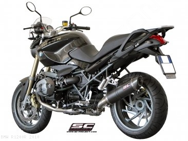 Oval Matte Carbon Exhaust by SC-Project BMW / R1200R / 2010