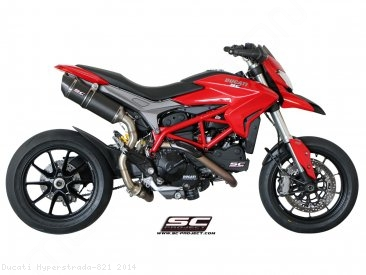 Oval High Mount Exhaust by SC-Project Ducati / Hyperstrada 821 / 2014