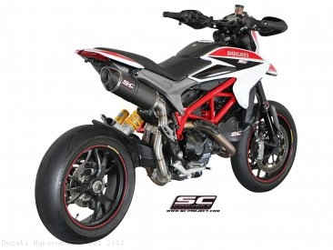Oval High Mount Exhaust by SC-Project Ducati / Hypermotard 821 / 2013