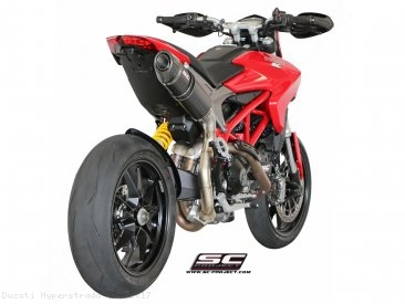 Oval High Mount Exhaust by SC-Project Ducati / Hyperstrada 939 / 2017