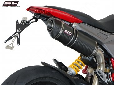 Oval High Mount Exhaust by SC-Project Ducati / Hypermotard 821 / 2015