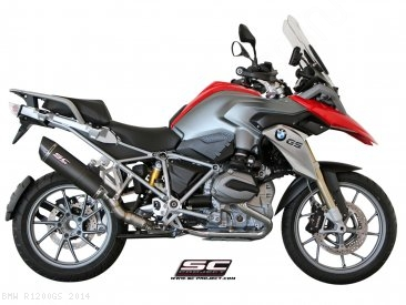 Oval Matte Carbon SC1 Exhaust by SC-Project BMW / R1200GS / 2014