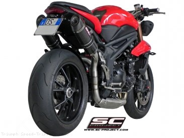 Oval High Mount Exhaust by SC-Project Triumph / Speed Triple R / 2015