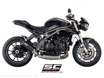 Oval Low Mount Exhaust by SC-Project Triumph / Speed Triple R / 2016
