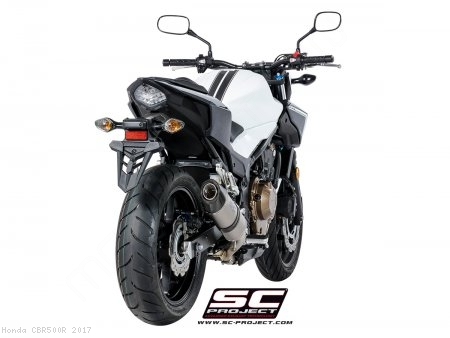 Oval Exhaust By Sc Project Honda Cbr500r 2017 H18 25