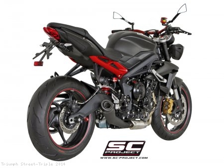 Conic Matte Black Exhaust by SC-Project Triumph / Street Triple / 2014