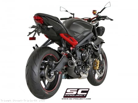 Conic Matte Black Exhaust by SC-Project Triumph / Street Triple RX / 2015