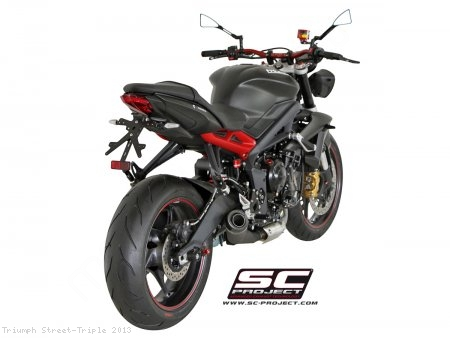 Conic Matte Black Exhaust by SC-Project Triumph / Street Triple / 2013