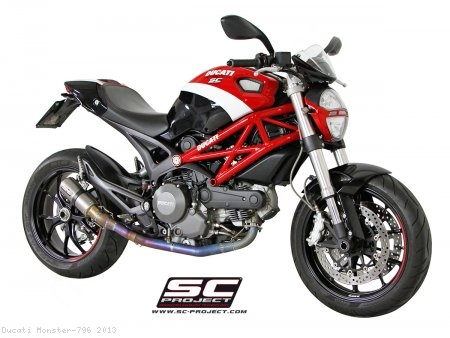 CR-T Titanium 2-1 Full System Exhaust by SC-Project Ducati / Monster 796 / 2013