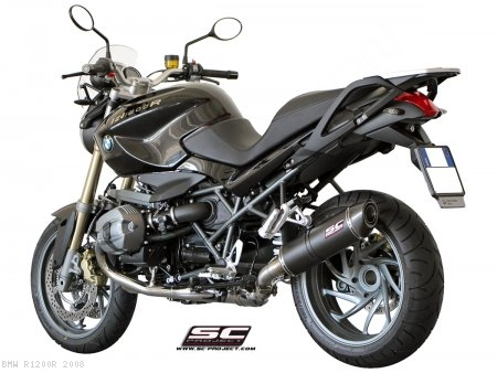 Oval Matte Carbon Exhaust by SC-Project BMW / R1200R / 2008