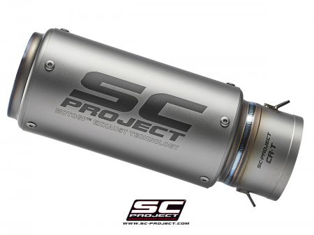 Replacement CR-T Exhaust Silencer for SC-Project 65mm Link Pipe
