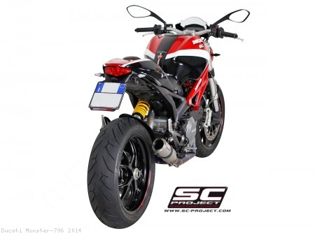 CR-T Titanium 2-1 Full System Exhaust by SC-Project Ducati / Monster 796 / 2014