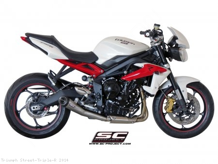Conic Exhaust by SC-Project Triumph / Street Triple R / 2014